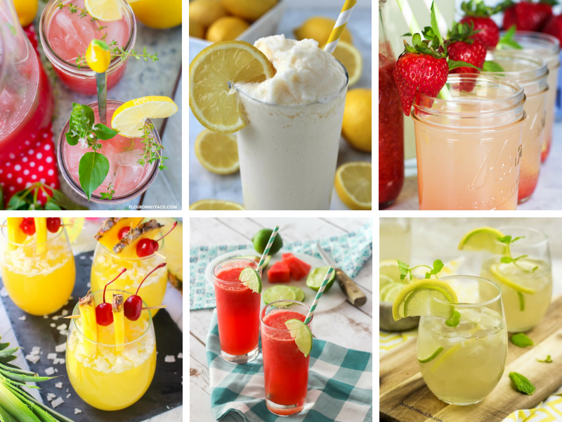 Fruity Drinks - easy nonalcoholic recipes and drinks with alcohol for summer sipping