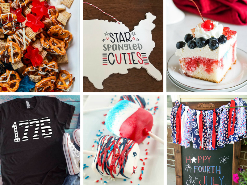 Patriotic Crafts and party treats for 4th of July parties