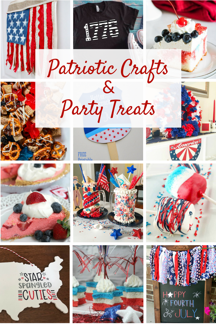 Celebrate the 4th of July with these DIY patriotic crafts and easy treats. Red, white and blue decorations ideas to help you create a fun patriotic party.
