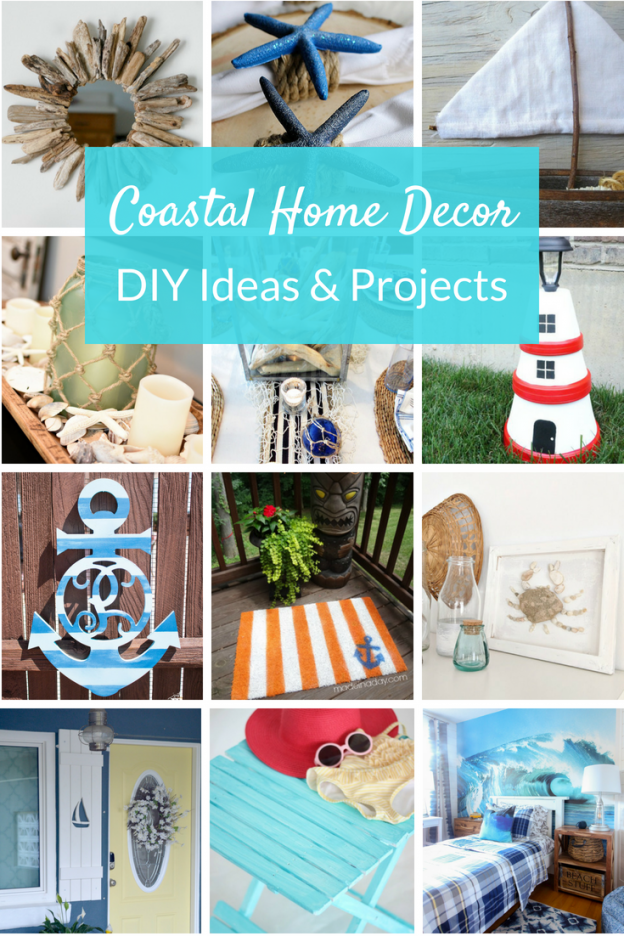 Coastal decor ideas bring the feeling of the beach home! Whether you live on the water or just love nautical decor, check out these beachy DIY home ideas.