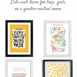 Nursery artwork and wall decor ideas. From animals to the alphabet, these cute, modern paintings and prints can grow with your child from baby to big kid.