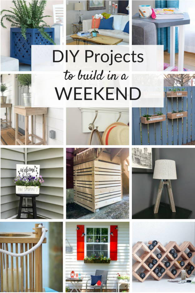 Weekend DIY project ideas for your home. Check out these tutorials and building projects you can make in a weekend for outdoors and around the house!