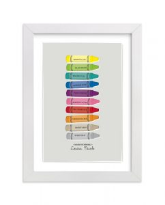 Color Your World nursery art
