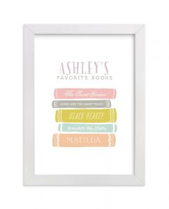 My Favorite Books nursery print