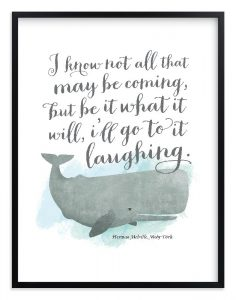 Moby Dick Quote Print