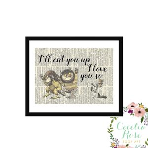 Where the Wild Things Are nursery art