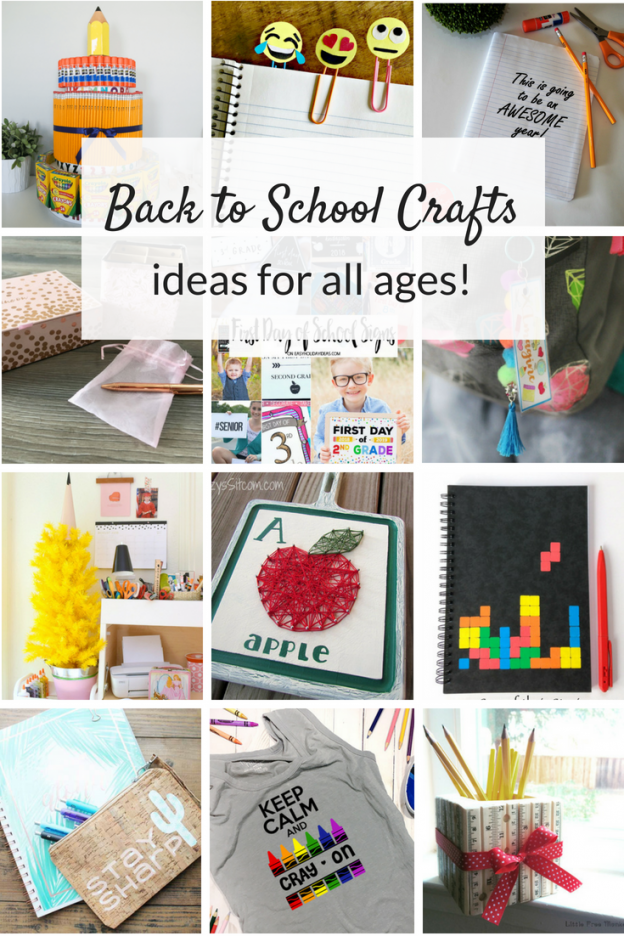 Back to School crafts ideas for all ages! From elementary age kids to middle school and teens, these easy DIYs are a fun way to kick off a new school year.