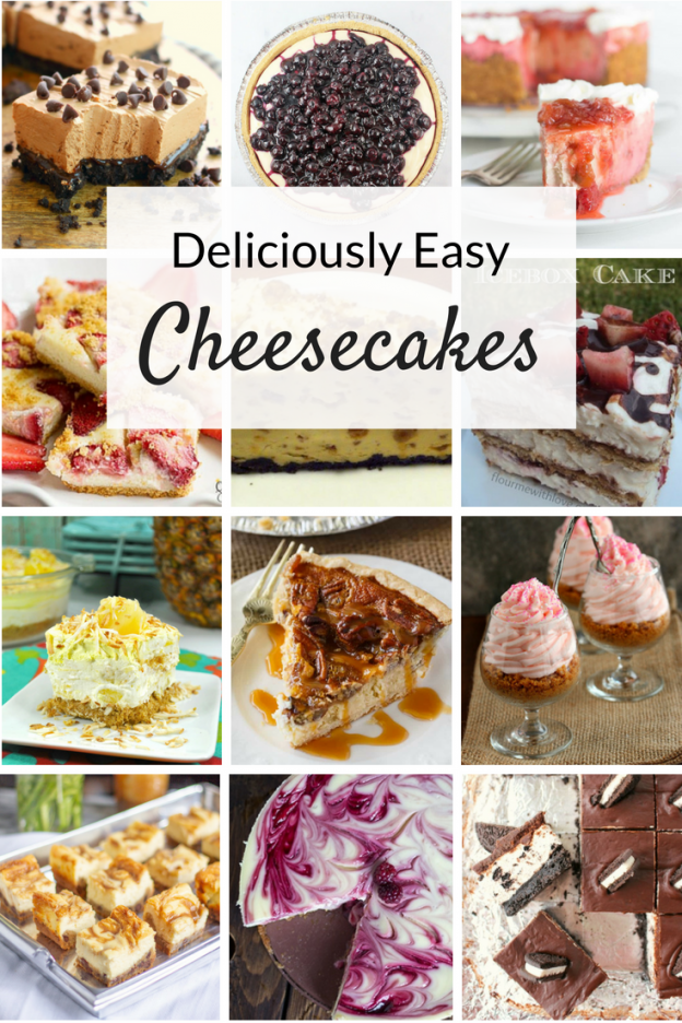 Deliciously easy cheesecake recipes, from no bake ideas to flavors like strawberry and lemon to chocolate and caramel, you've got to try these!