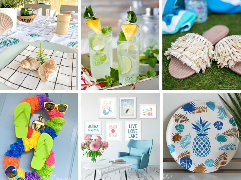tropical party ideas - diys and decorations for a luau style party