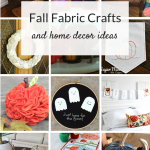 Fall fabric crafts and ideas for DIY home decor. Simple fabric projects you can make for your home, including no sew ideas!