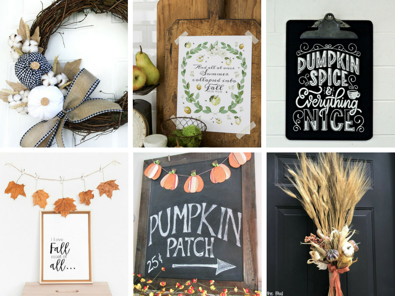 Simple Fall Wall Decor Ideas