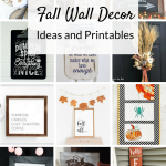 Fall wall decor, rustic wood signs, wreaths and farmhouse style printables. Deck your walls for Fall with these simple DIY ideas!