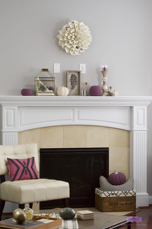 Autumn Mantel and Ideas for Fall Decor