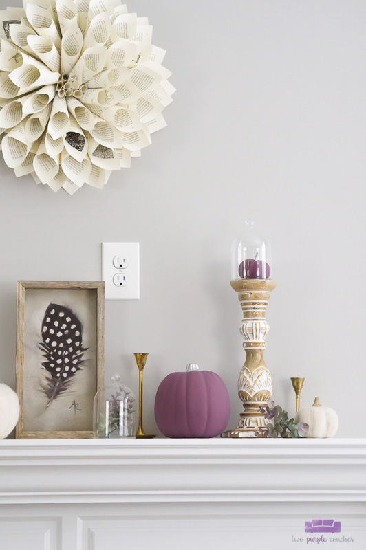 DIY Autumn Mantel Decor