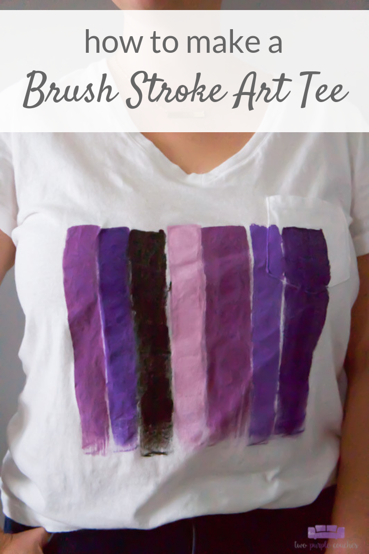 Learn how to make this simple, colorful abstract t-shirt using acrylic paints! It's a cute, easy on-trend project you can do in minutes!
