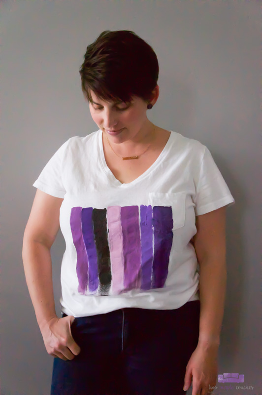 DIY Brush Stroke Art Tee Shirt