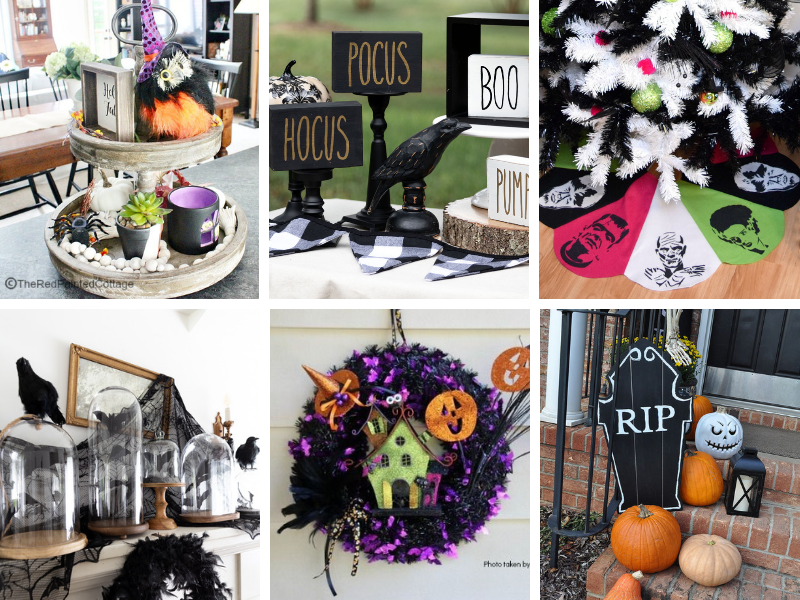 Halloween Home Decor - easy, cheap DIY ideas and crafts for Halloween decorations