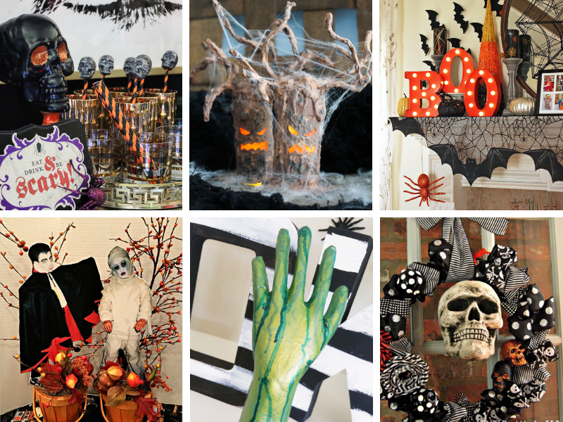 Halloween Home Decor Ideas - from cute to creepy!
