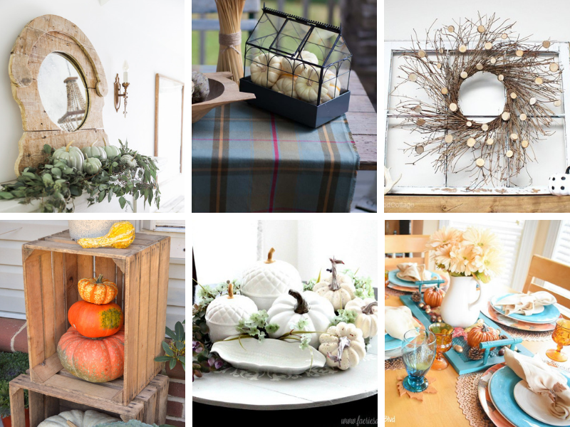 Cozy, beautiful Fall Home Decor Ideas for mantels, tables, centerpieces, and more!