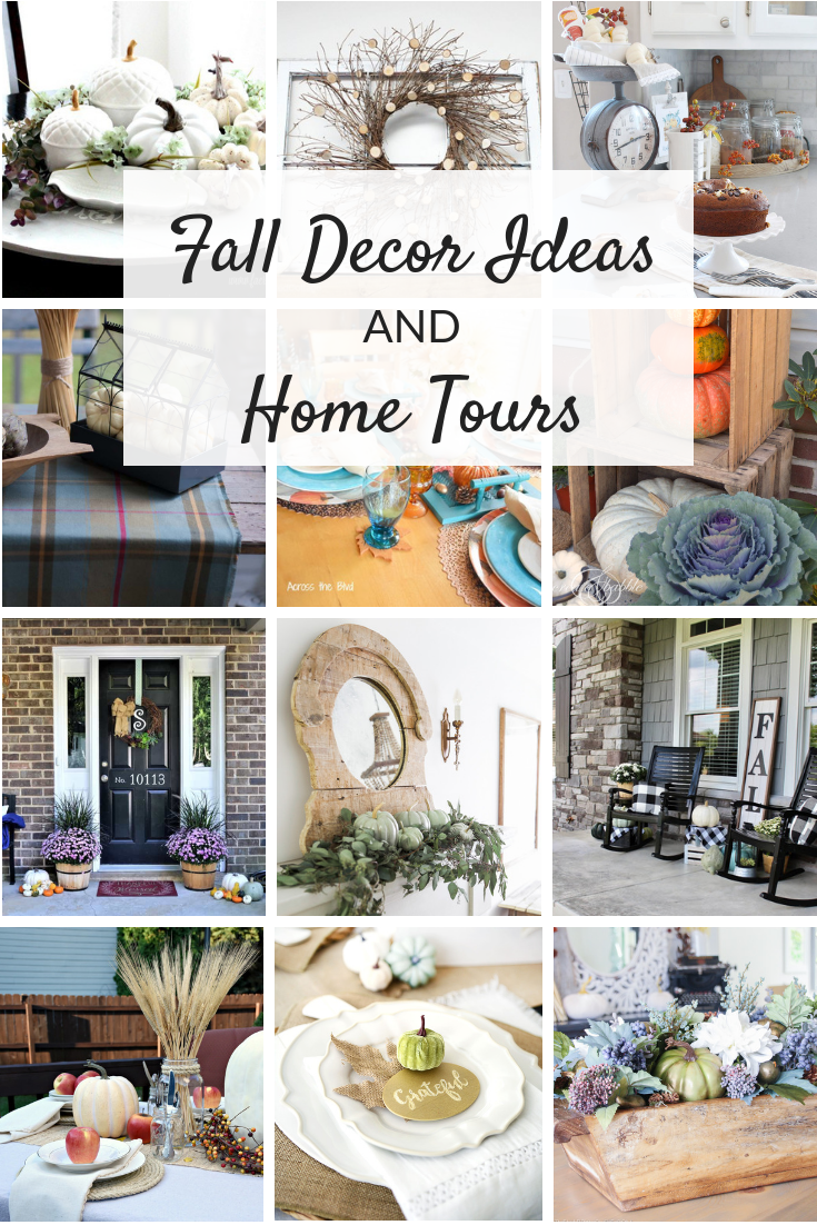 Fall home decor ideas and inspiring fall home tours. From outdoors to in, the living room to the kitchen, lots of beautiful, cozy DIY decorating!
