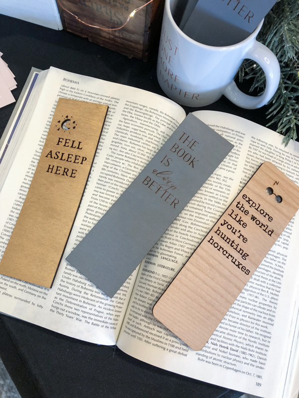 ABC Market - literary gifts, wooden bookmarks