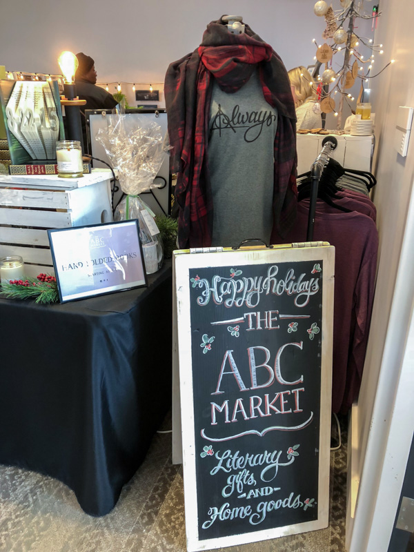 ABC Market - curated and handmade literary gifts and home goods.