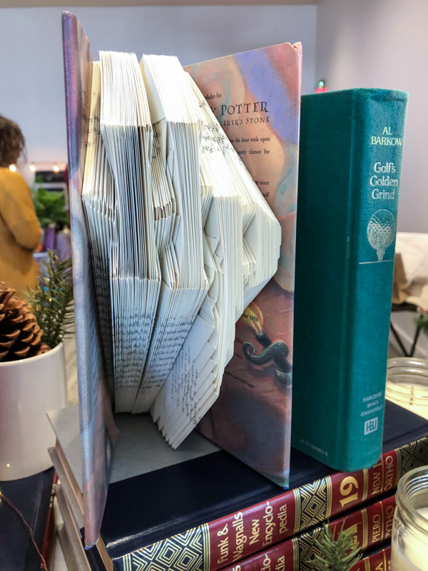 ABC Market - folded books, Harry Potter, literary gifts and home goods