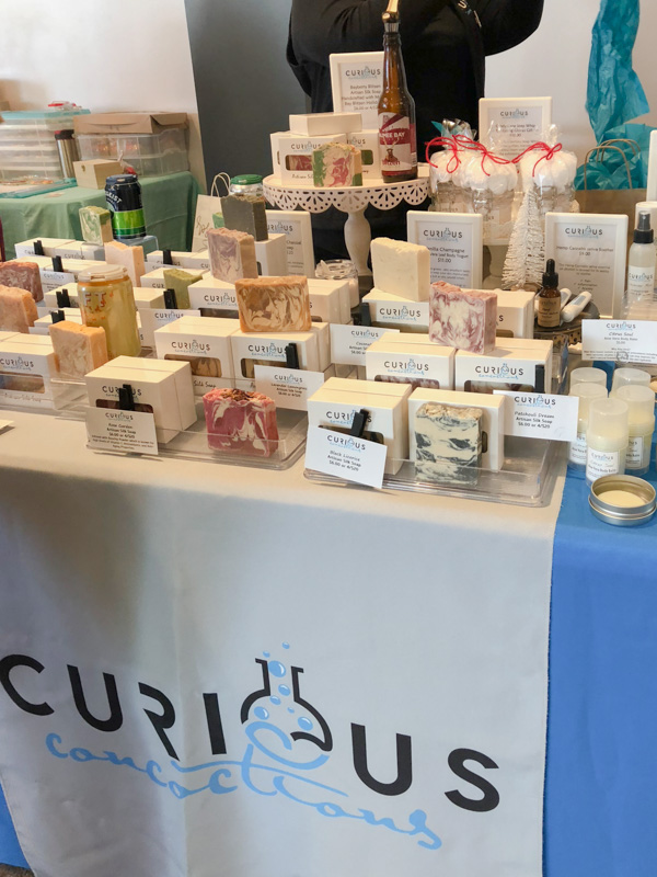 Girl Boss Events Holiday Pop-Up 2018 - handmade soaps and beauty care products from Curious Concoctions