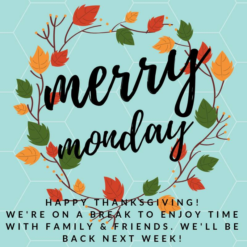 Happy Thanksgiving from Merry Monday Link Party Team