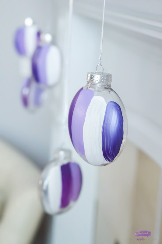 """Sugared Plum"" Modern Christmas Mantel and DIY ornaments"