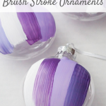 Brush stroke ornaments add a beautiful modern touch to your Christmas decor or Christmas tree. They are simple and easy to make yourself!