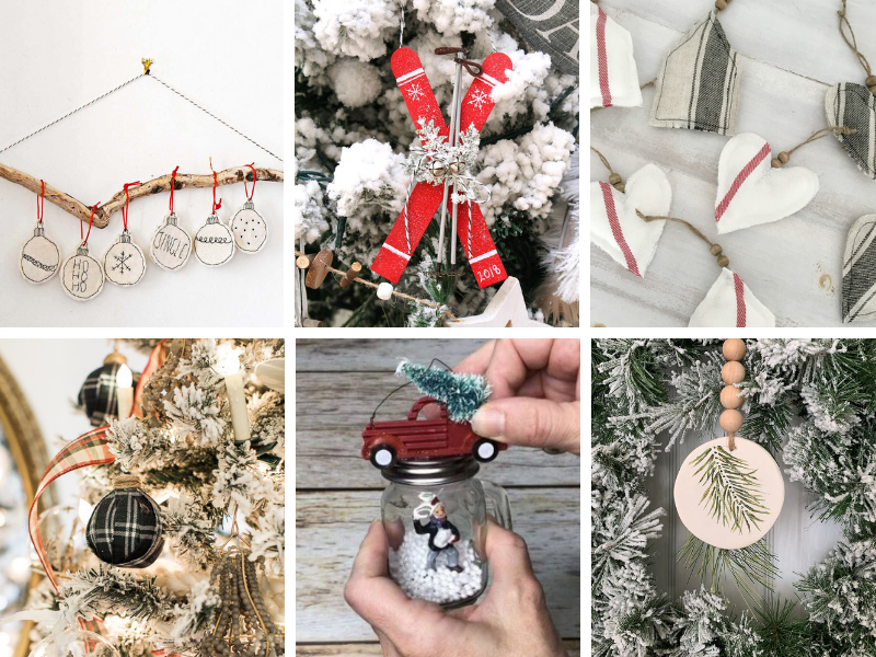 DIY Ornaments - easy ideas for adults & kids.