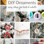 DIY Ornaments are easy to make and personalize for kids and adults. From rustic to elegant, lots of ideas to paint and craft your own holiday ornaments!
