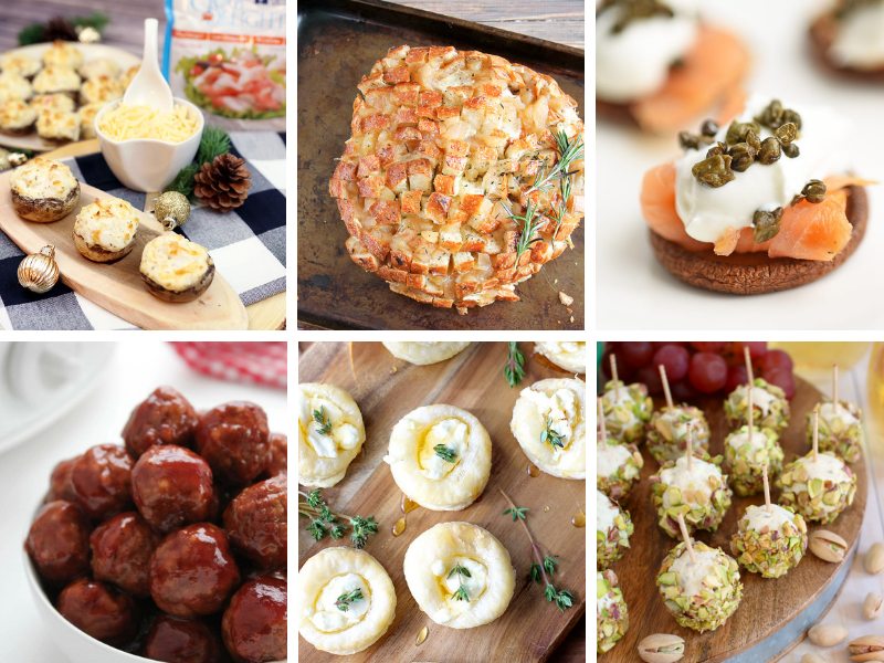 Party Appetizers ideas for a crowd. Easy and elegant fingerfood ideas. #partyappetizers #partyapps #partyfood