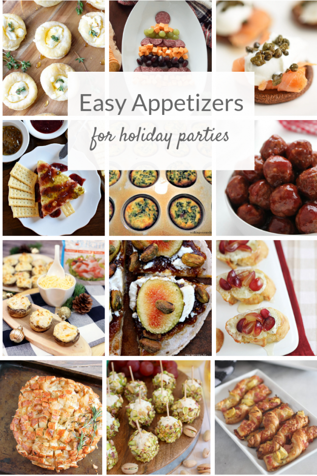 Easy party appetizers to make for a crowd. These holiday fingerfood ideas are perfect for a fancy cocktail hour, but are so simple to make! #partyappetizers #partyapps #partyfood