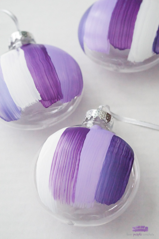 Modern Brush Stroke Ornaments - beautiful abstract DIY ornaments