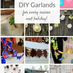 Collage of DIY garlands