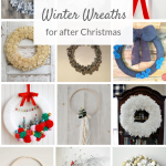 Beautiful DIY winter wreath ideas to display on your front door after Christmas. Learn how to make one of these easy winter wreaths! #winterwreath #wintercrafts #winterdecorating #winterdecor