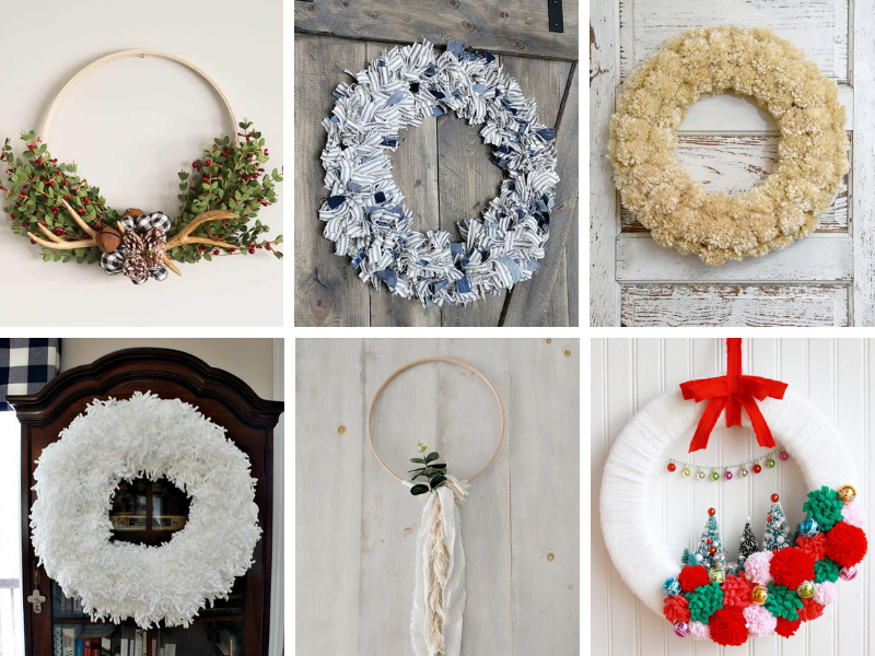Learn how to make these beautiful winter wreaths to display on your front door after the holidays! #winterwreath #wintercrafts #winterdecorating #winterdecor