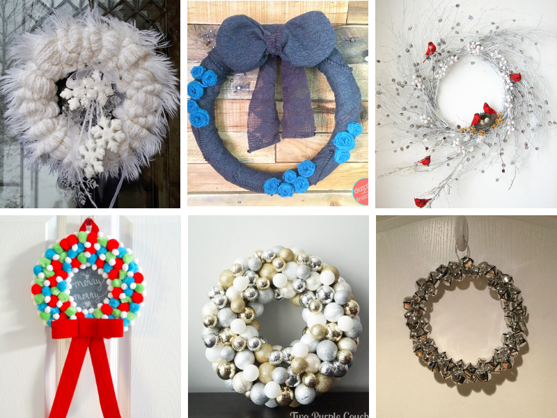 Winter Wreath Ideas and DIY winter decor for after Christmas. #winterwreath #wintercrafts #winterdecorating #winterdecor