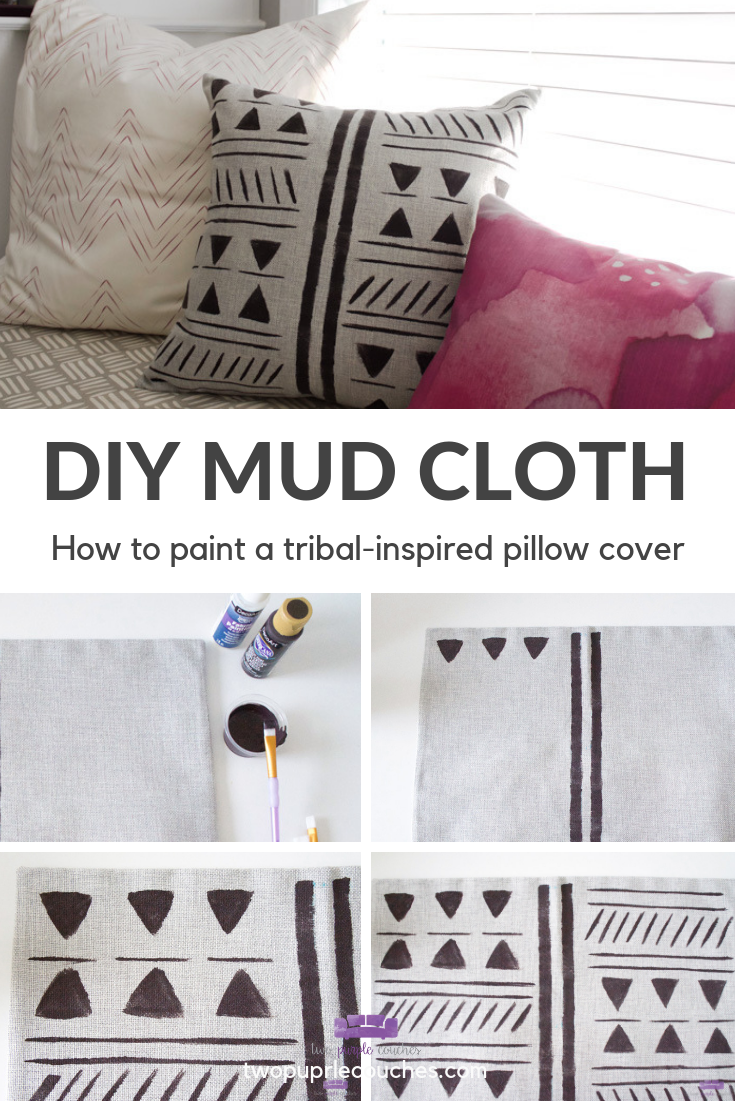 Collage - how to paint mud cloth pattern