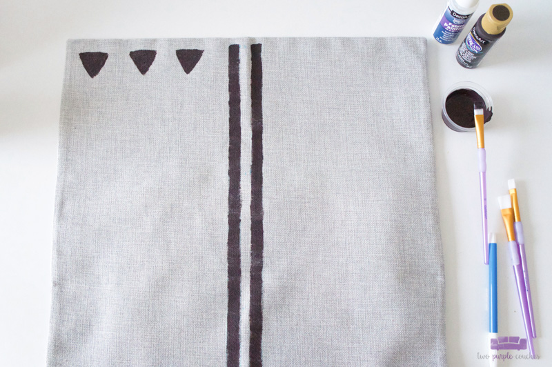 painting a mud cloth pattern