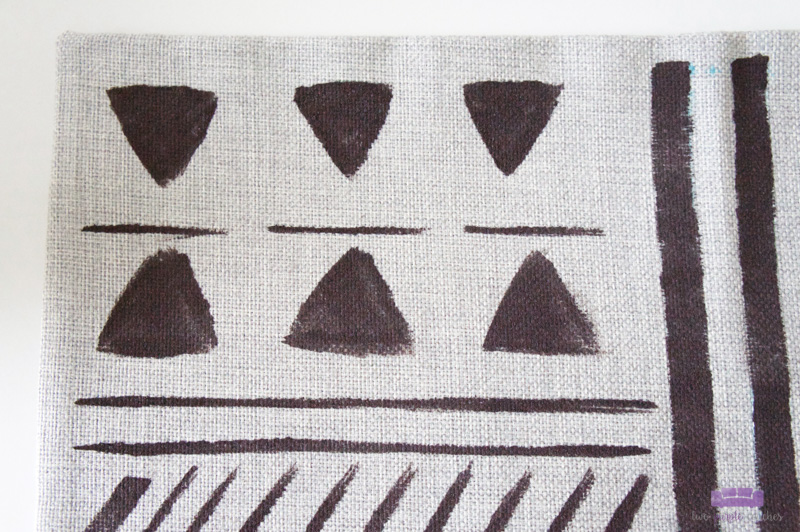 details of painted mud cloth pattern