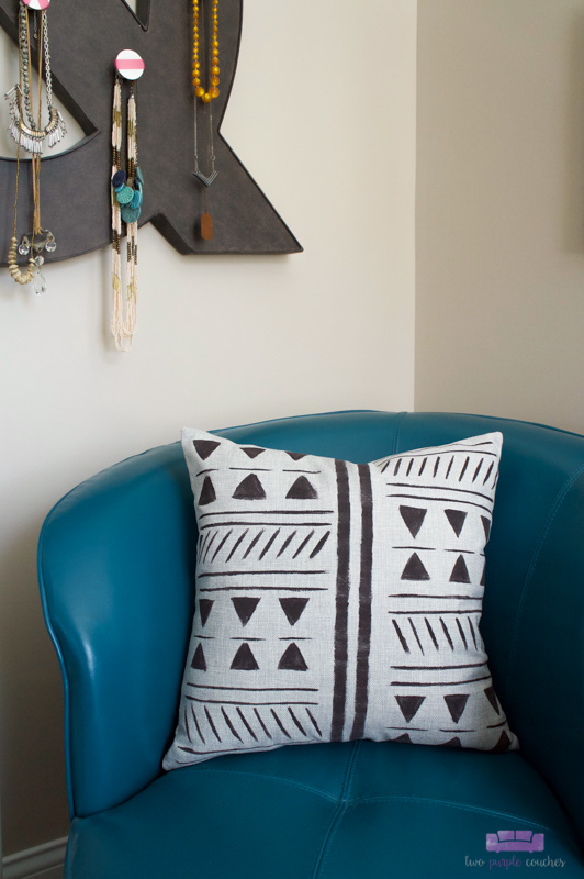 mud cloth style pillow