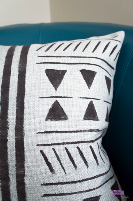 mud cloth inspired pillow