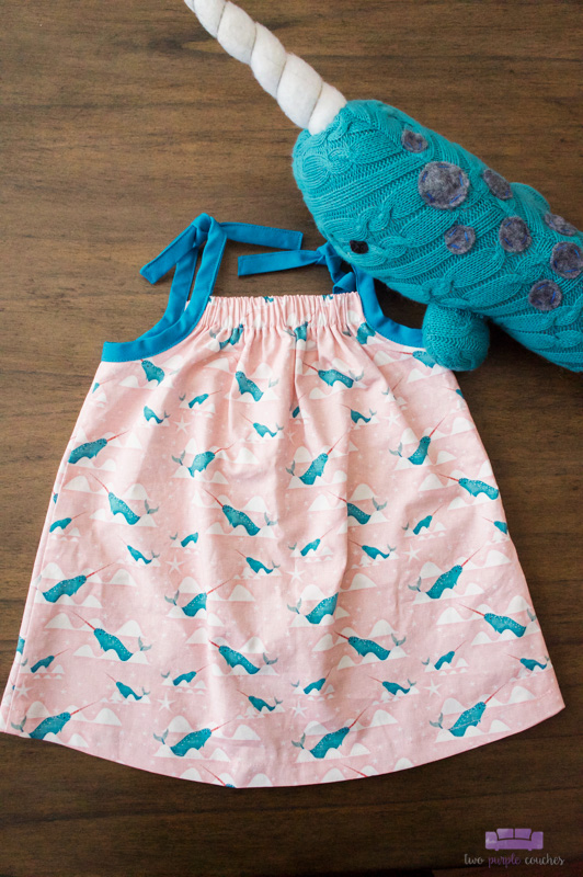 narwhal dress by evie 'n lizzie