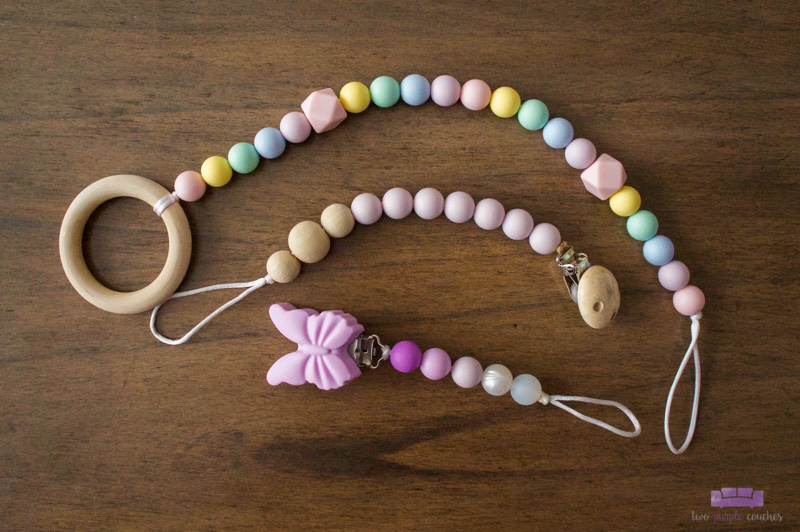 silicone pacifier clips by Spampy Baby Co