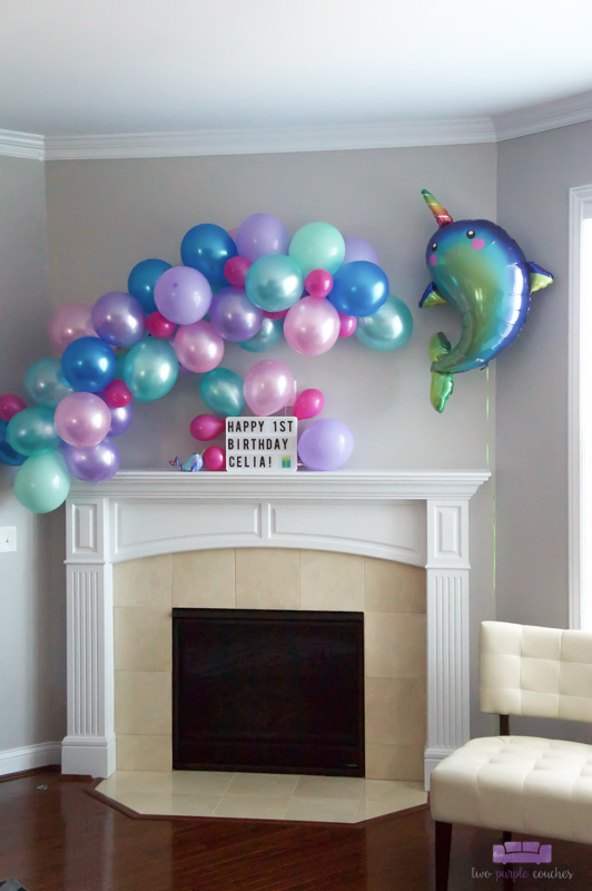 narwhal birthday balloon decorations
