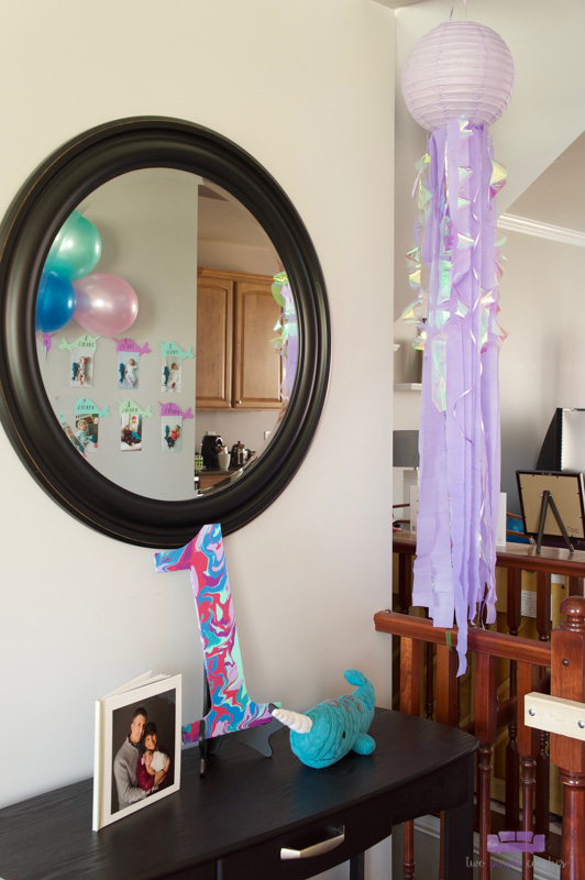 narwhal birthday decor