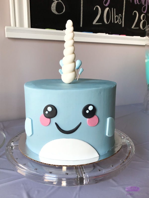 narwhal birthday cake
